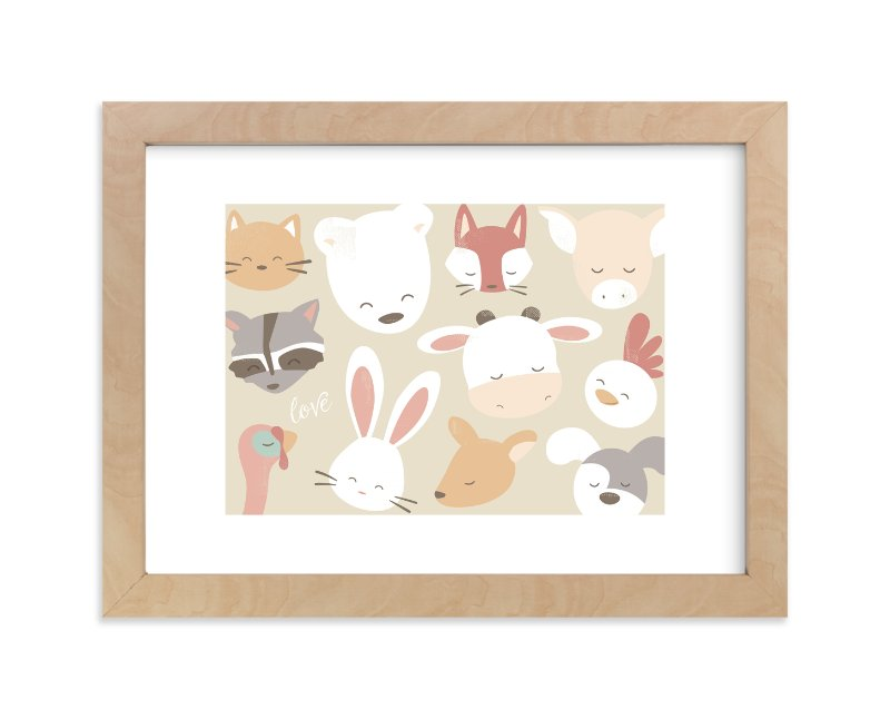 """""""love animals"""" - Art Print by peetie design in beautiful frame options and a variety of sizes."""