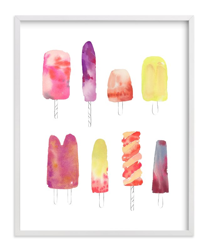 """""""Popsicle"""" - Art Print by Kelly Ventura in beautiful frame options and a variety of sizes."""
