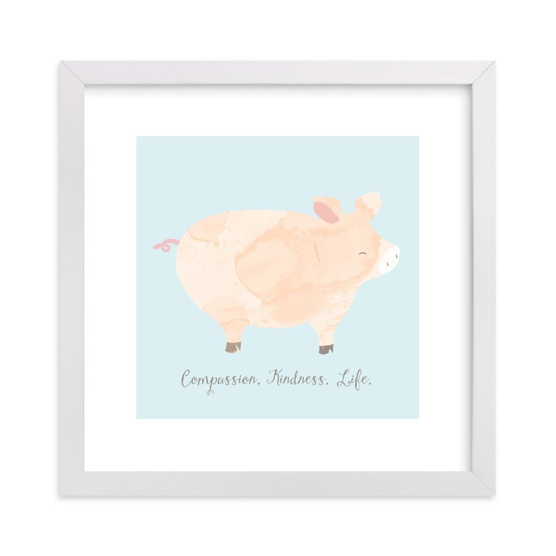 """""""pig friend"""" - Art Print by peetie design in beautiful frame options and a variety of sizes."""