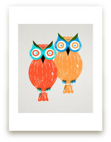 Two Owls by Anne Crosse