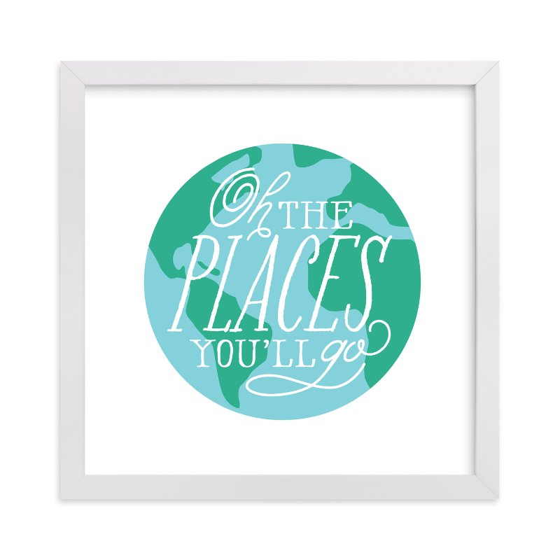 """""""Places You'll Go"""" - Art Print by Jessie Steury in beautiful frame options and a variety of sizes."""