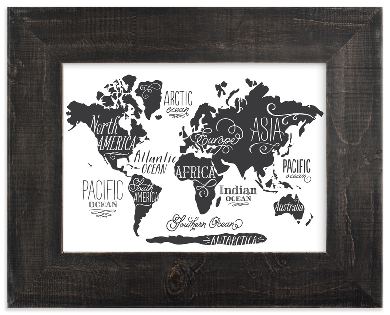 """""""Wild Worldwide Map"""" - Art Print by Jessie Steury in beautiful frame options and a variety of sizes."""