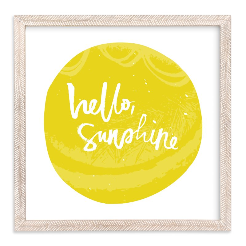 """Hello Sunshine"" - Art Print by Stacy Kron in beautiful frame options and a variety of sizes."