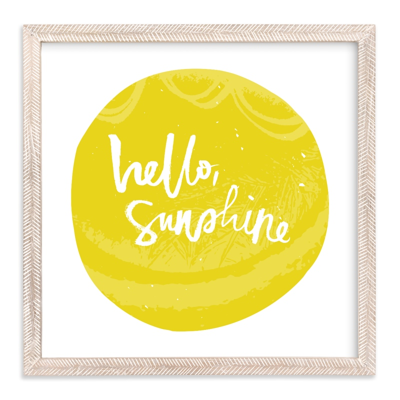 """""""Hello Sunshine"""" - Art Print by Stacy Kron in beautiful frame options and a variety of sizes."""