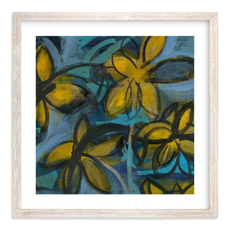 """""""Shining Flowers Series 1"""" - Art Print by Angela Simeone in beautiful frame options and a variety of sizes."""