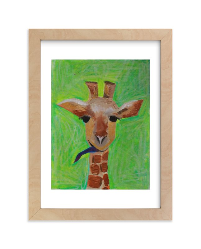 """""""Sassy the Giraffe"""" - Art Print by Art by Megan in beautiful frame options and a variety of sizes."""