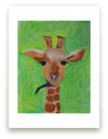 Sassy the Giraffe by Art by Megan