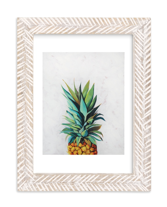 """Pineapple Crown"" - Art Print by Amanda Phelps in beautiful frame options and a variety of sizes."