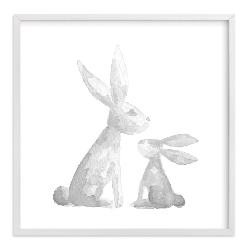 """Sweet Baby Bunny"" - Art Print by Jessie Steury in beautiful frame options and a variety of sizes."