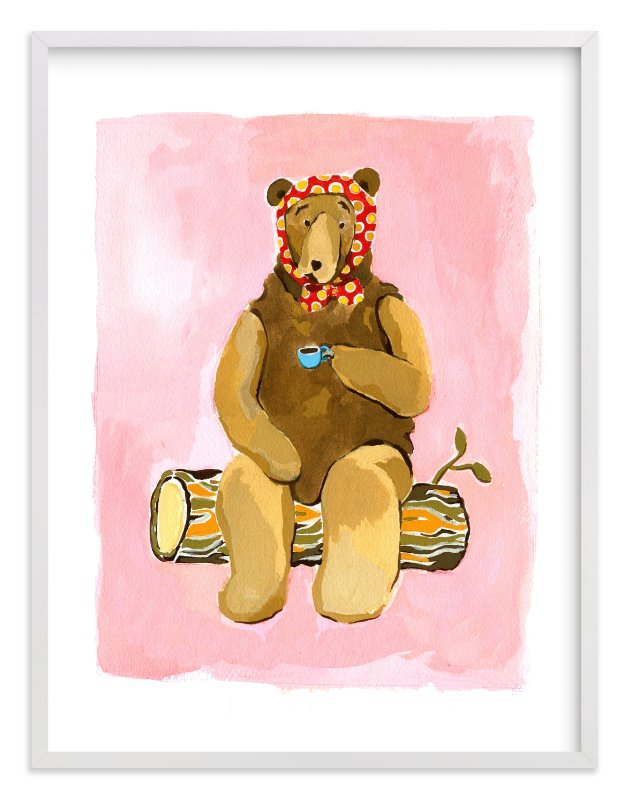 """""""Spot of Tea"""" - Art Print by Betty Hatchett in beautiful frame options and a variety of sizes."""