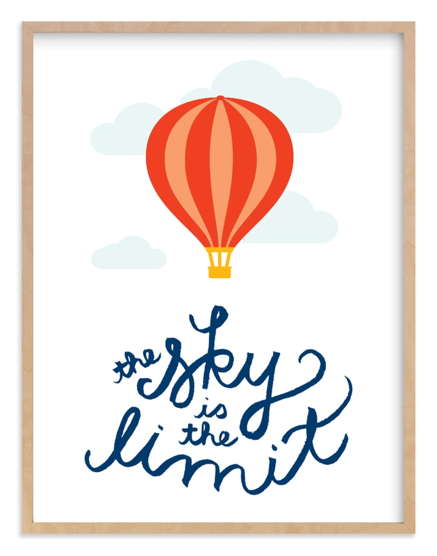 """The Sky is the Limit"" - Art Print by Genna Cowsert in beautiful frame options and a variety of sizes."