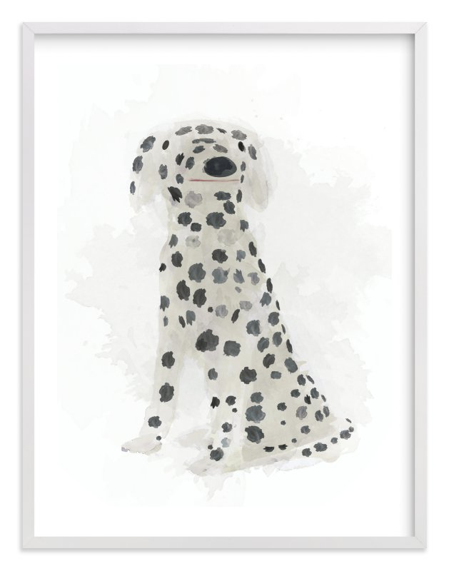 """""""Spot the Dalmatian"""" - Art Print by Melissa Marcarelli in beautiful frame options and a variety of sizes."""