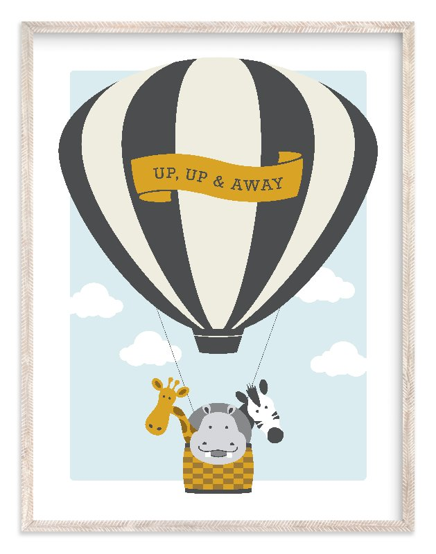 """Beautiful Balloon"" - Art Print by Kampai Designs in beautiful frame options and a variety of sizes."