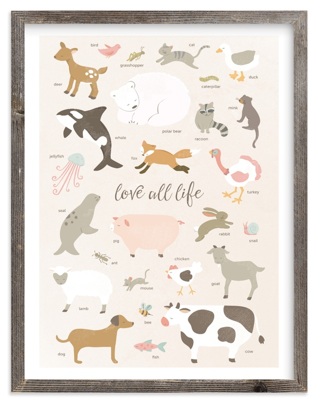 """""""love all life"""" - Art Print by peetie design in beautiful frame options and a variety of sizes."""