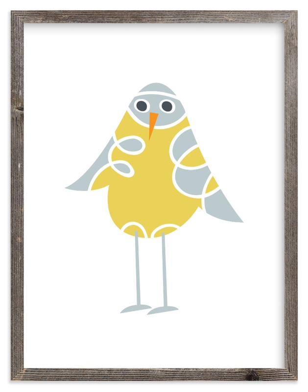 """Sweet Baby Bird"" - Art Print by Jan Shepherd in beautiful frame options and a variety of sizes."