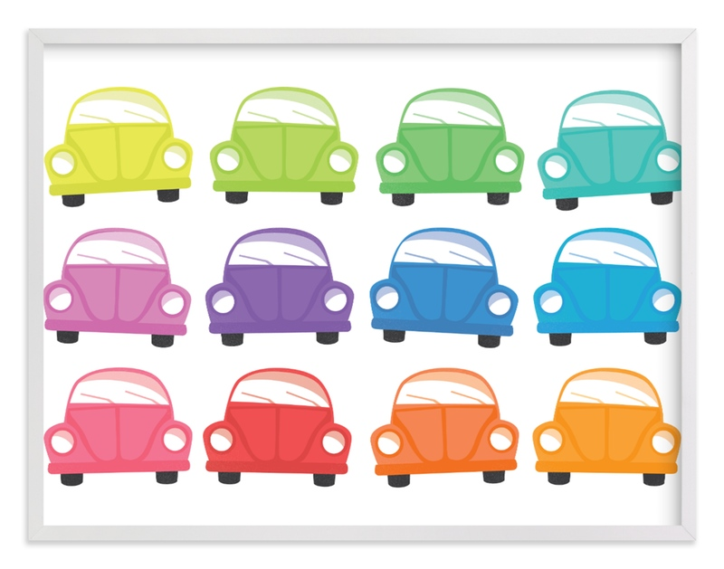 """""""Rainbow Bugs"""" - Art Print by Jessie Steury in beautiful frame options and a variety of sizes."""