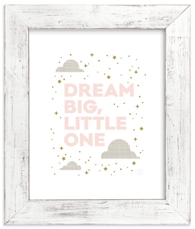 """Dream Big, Little One"" - Art Print by Maddy Hague in beautiful frame options and a variety of sizes."