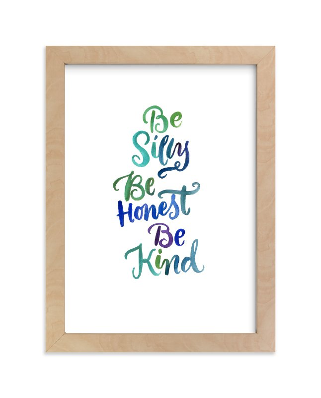 """""""Be Silly"""" - Art Print by Laura Bolter Design in beautiful frame options and a variety of sizes."""