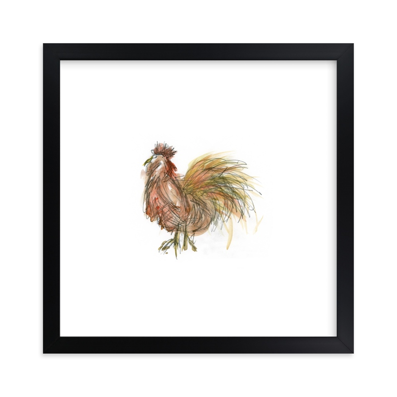 """""""Coop Cooper"""" - Art Print by Mande Calhoun in beautiful frame options and a variety of sizes."""