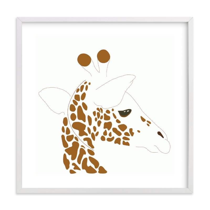 """""""Hello Giraffe!"""" - Art Print by Gaucho Works in beautiful frame options and a variety of sizes."""