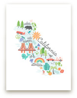 California Kids Map by Jessie Steury