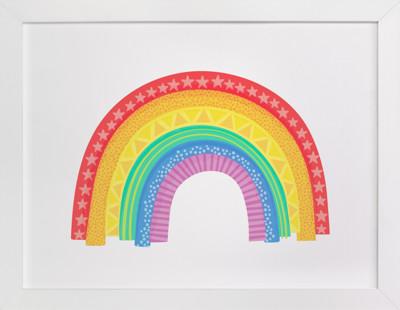 Rad Rainbow Self-Launch Children's Art Print