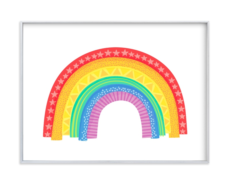 """Rad Rainbow"" - Art Print by Jessie Steury in beautiful frame options and a variety of sizes."