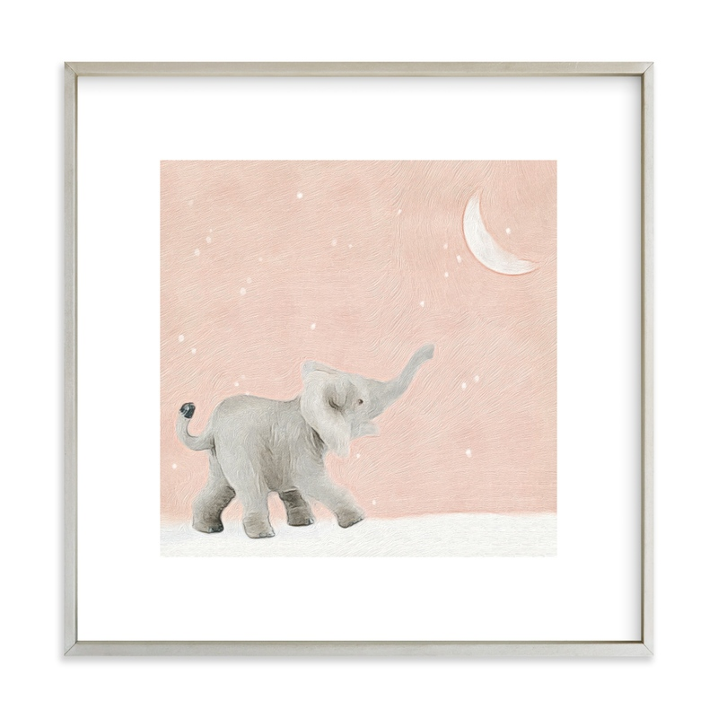"""""""Moon Balloon Too"""" - Art Print by Maja Cunningham in beautiful frame options and a variety of sizes."""