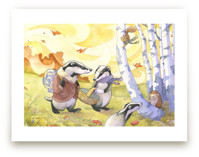 Badger's Fall Picnic by Natalie Groves