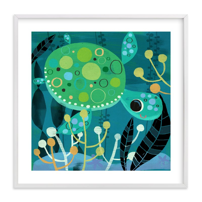"""""""Under the Sea-Turtle"""" - Art Print by Chris Lensch in beautiful frame options and a variety of sizes."""