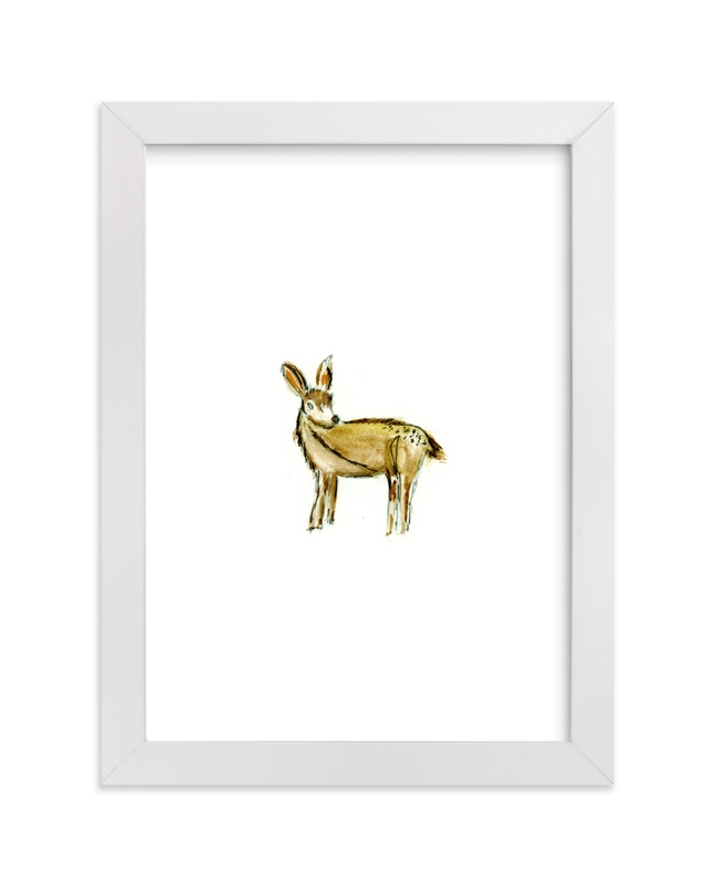 """""""Doeie Deer"""" - Art Print by Mande Calhoun in beautiful frame options and a variety of sizes."""