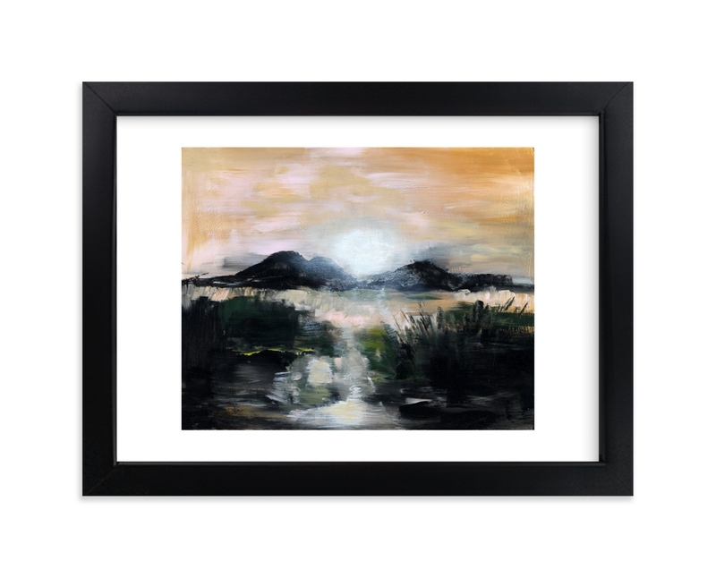 """""""Gettinglate"""" - Art Print by Susanna Nousiainen in beautiful frame options and a variety of sizes."""