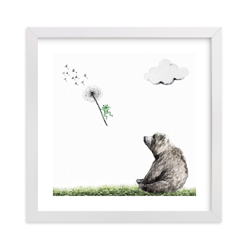 """Chance of rain and random tornado"" - Art Print by Maja Cunningham in beautiful frame options and a variety of sizes."