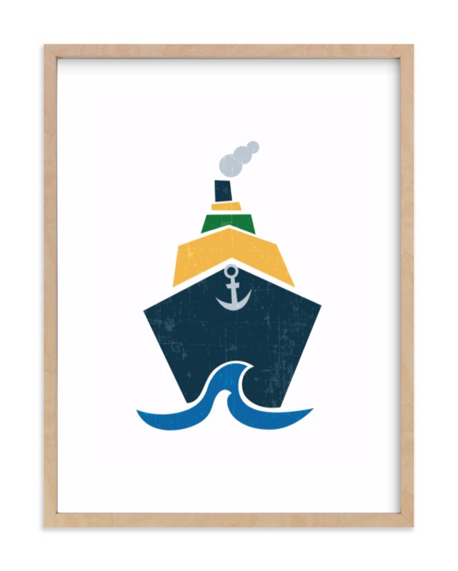 """""""Stacked Boat"""" - Art Print by Jennifer Morehead in beautiful frame options and a variety of sizes."""