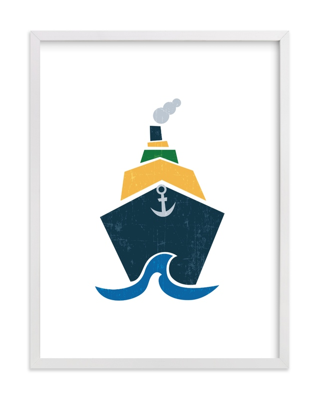 Stacked Boat Self-Launch Children's Art Print
