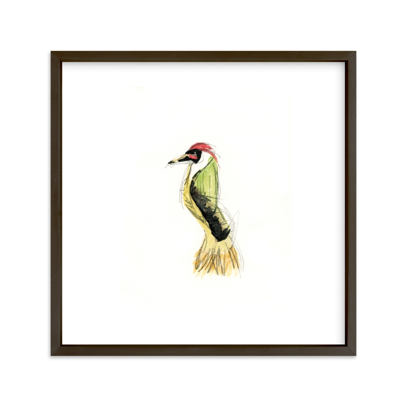 """""""""""Wild Thing"""" Bird"""" - Art Print by Mande Calhoun in beautiful frame options and a variety of sizes."""