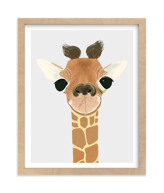 """""""Le Giraffe"""" - Art Print by Itsy Belle Studio in beautiful frame options and a variety of sizes."""