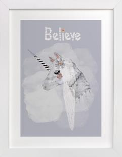 BELIEVE Self Launch Childrens Art Print