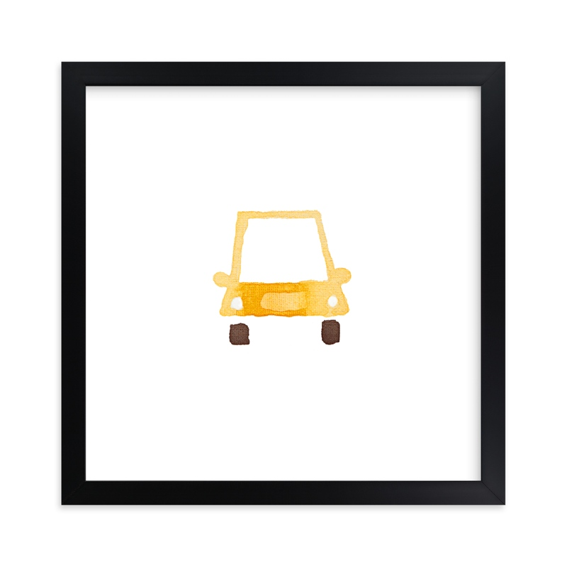"""""""Yellow Car Art"""" - Art Print by Jan Dolby in beautiful frame options and a variety of sizes."""