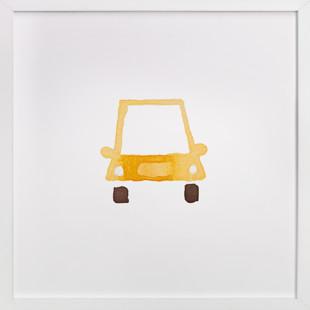 Yellow Car Art Self-Launch Children's Art Print