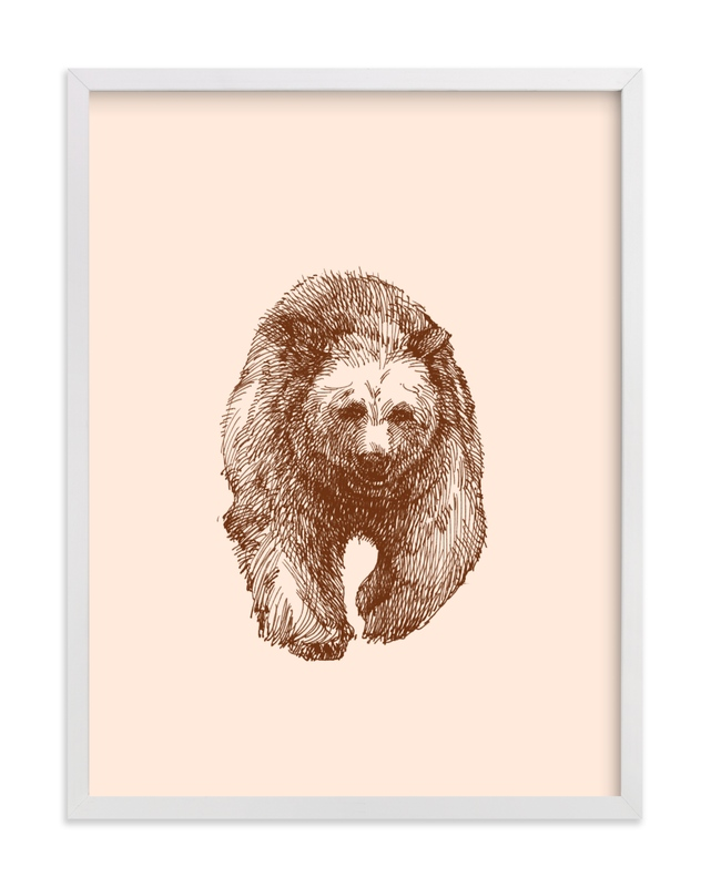 This is a brown kids wall art by IMG_101 called the Bear.