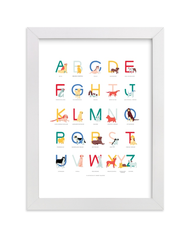 """Dogs from A to Z"" - Art Print by Lindsey Balbierz in beautiful frame options and a variety of sizes."