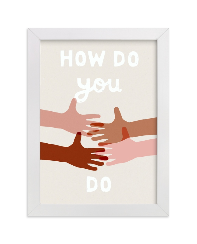 """""""How Do You Do?"""" - Art Print by Francesca Iannaccone in beautiful frame options and a variety of sizes."""