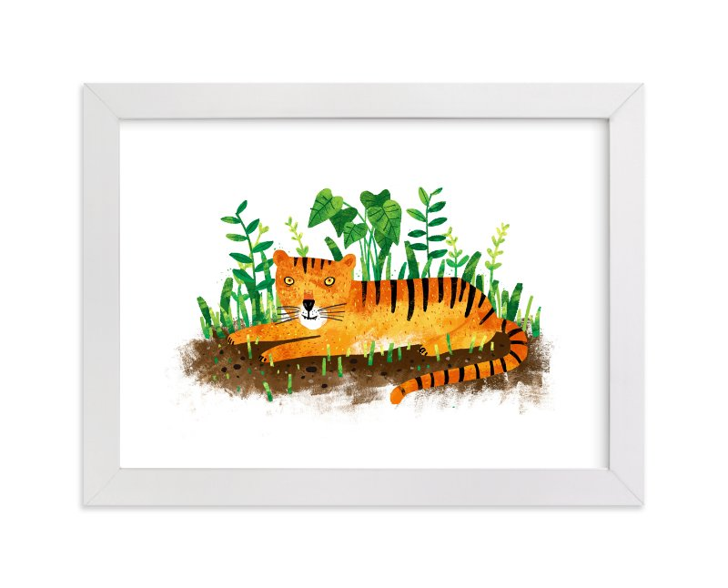 """""""Sumatran Tiger"""" - Art Print by Evelline Andrya in beautiful frame options and a variety of sizes."""
