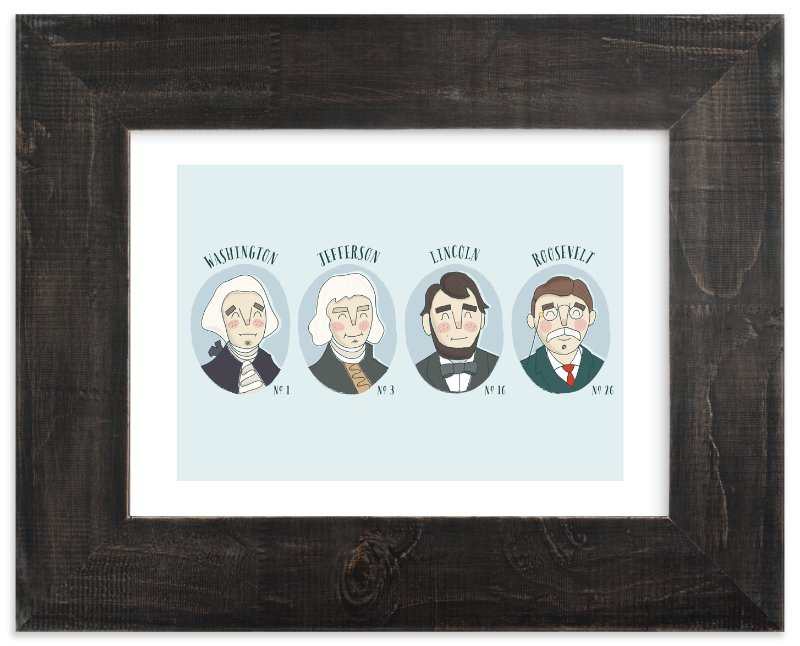 """""""Positively Presidential"""" - Art Print by Lorent and Leif in beautiful frame options and a variety of sizes."""