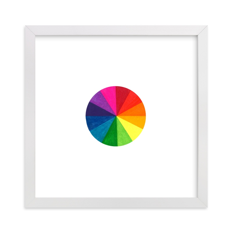 """""""Primary Color Wheel"""" - Art Print by Hilary Hahn in beautiful frame options and a variety of sizes."""