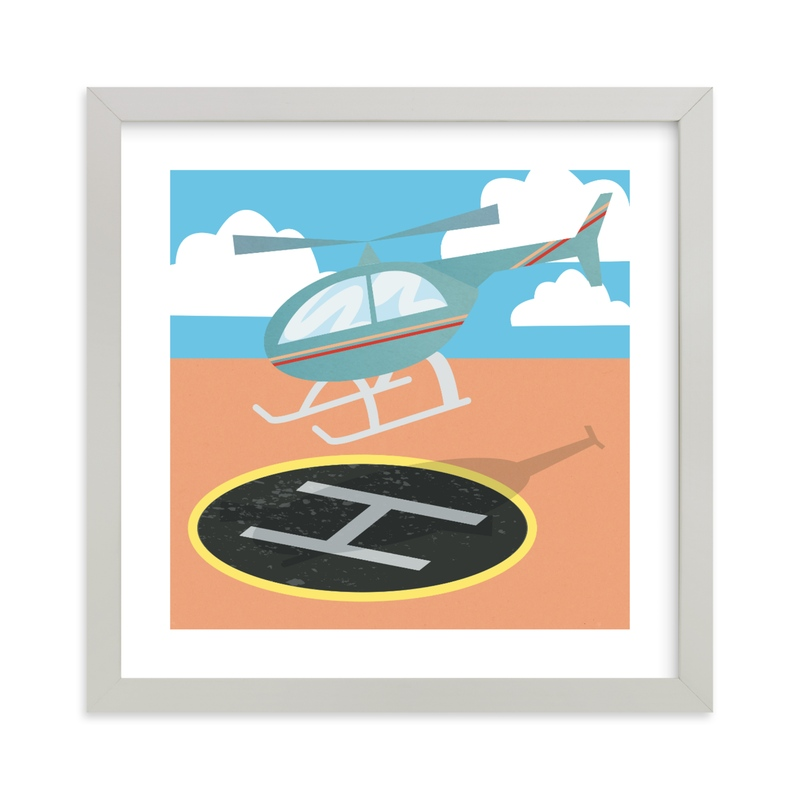 """Little Helicopter"" - Art Print by Catherine Culvenor in beautiful frame options and a variety of sizes."