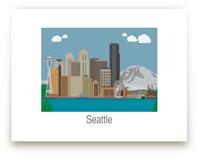 Seattle Washington Skyl... by Nathan Poland