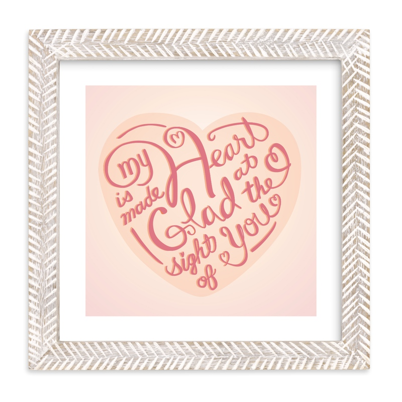 """""""Heart Made Glad"""" - Art Print by Shannon in beautiful frame options and a variety of sizes."""