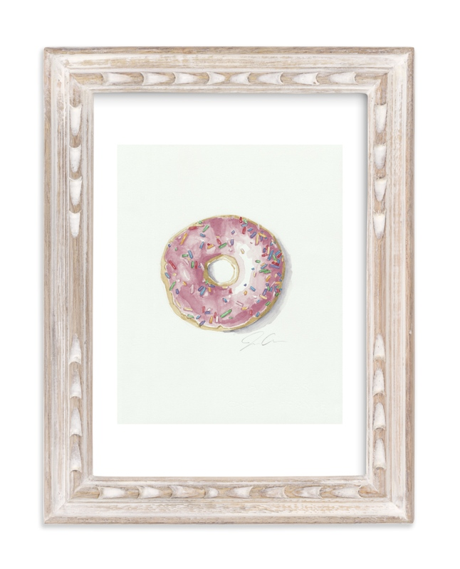 """Doughnut Bother Me"" - Art Print by Jackie Graham in beautiful frame options and a variety of sizes."